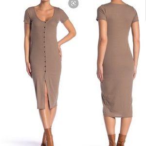 Velvet Torch Ribbed Knit Dress